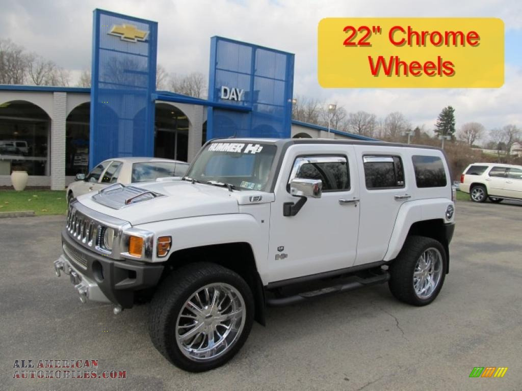 2006 Hummer H3 in Birch White Screensavers For Ipad