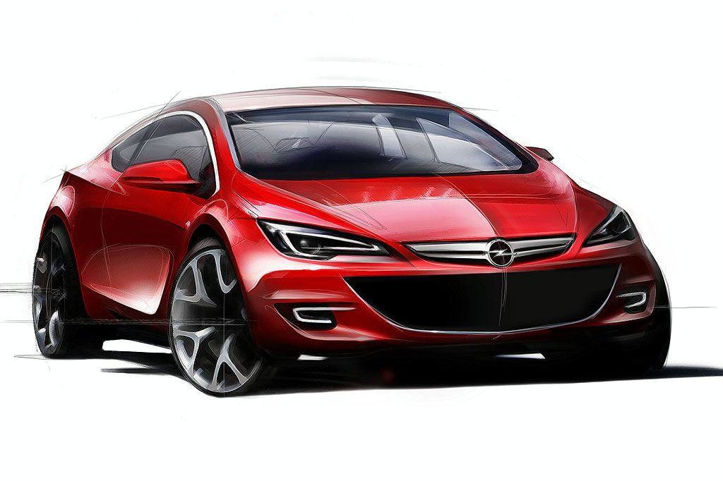 Opel Astra OPC hatchback sketch picture models Wallpaper Backgrounds