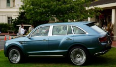 Bentley EXP 9 F SUV concept side view at Pebble Beach free download image