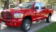 Dodge Ram car generate great performance view of black color two doors Wallpapers HD