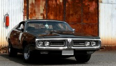 Dodge 383 magnum black front view  Image Wallpaper Backgrounds