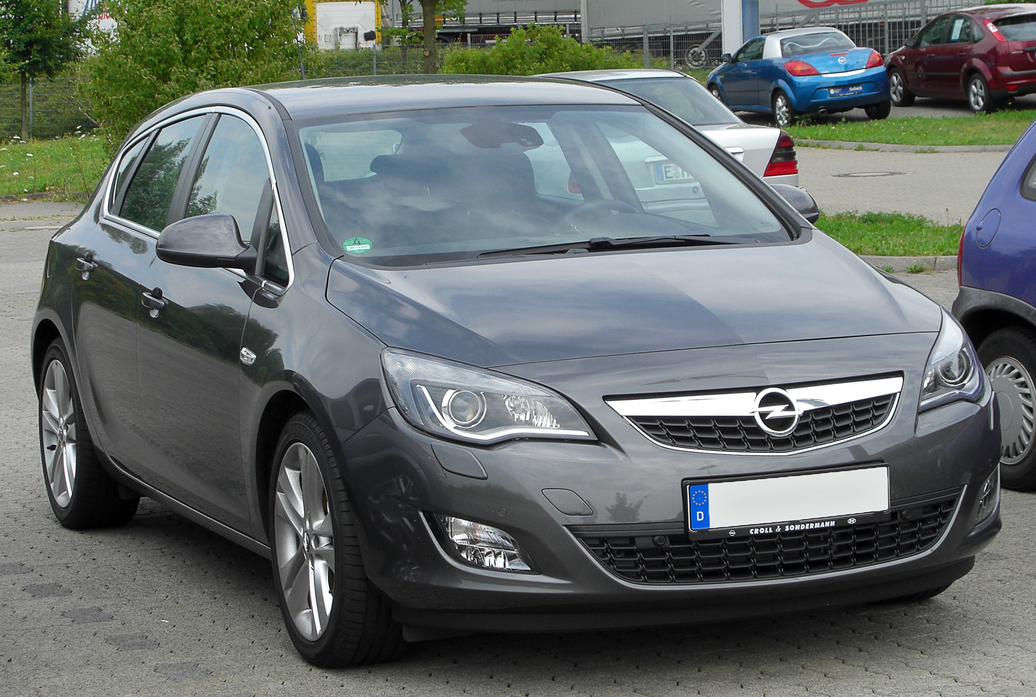 Opel Astra J front designed and manufactured Wallpapers Download