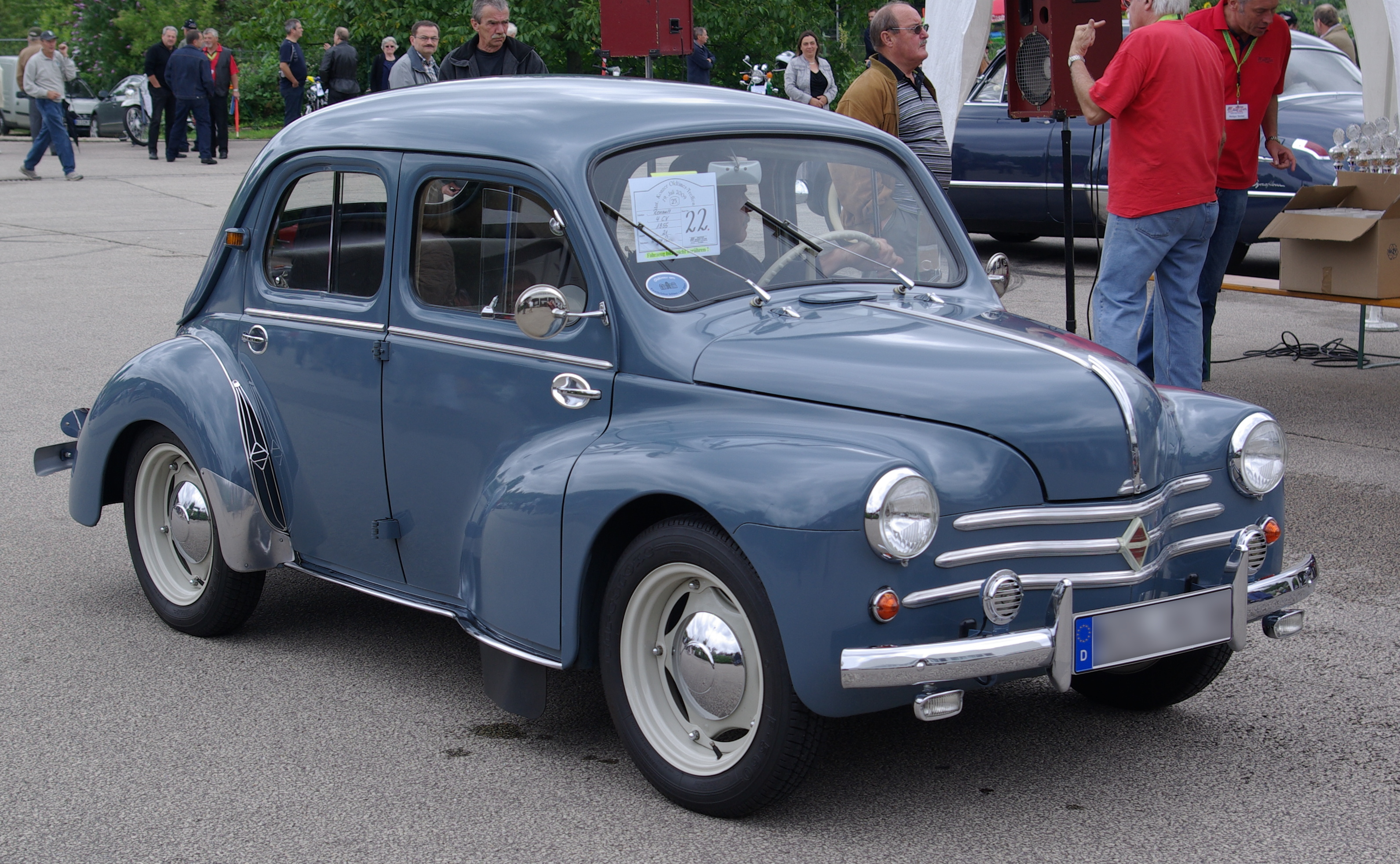 Renault 4CV BW photos Wallpapers HD
