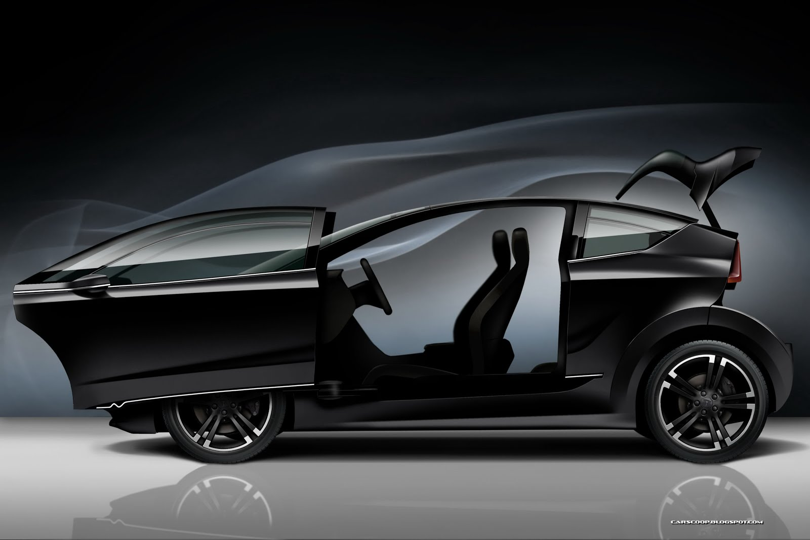 Tesla Model C Concept Study for a Compact Electric Hatch by picture High Resolution Wallpaper Free