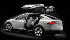 Tesla Model X falcon doors Present Desktop Backgrounds