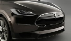Tesla Model X Prototype front steht in Detroit Present Desktop Backgrounds