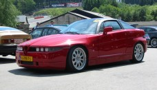 Alfa Romeo SZ & RZ red High Resolution Image Wallpapers HD