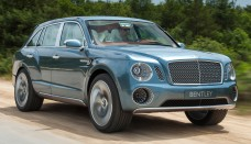 Bentley EXP 9 F SUV concept front three quarters view free download image
