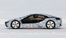 BMW i8 Hybrid Drives in Snow image editor free download