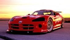 dodge viper competition coupe on road in red Wallpapers Desktop Download