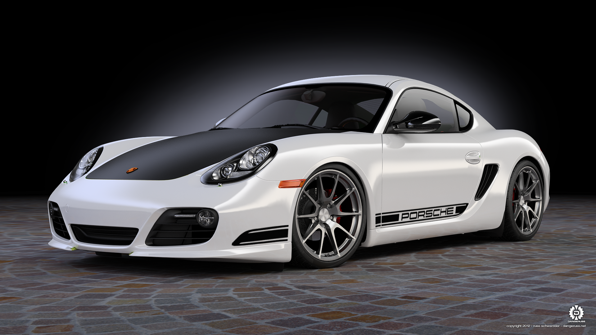 Porsche Cayman White Modified HD Wallpapers Download