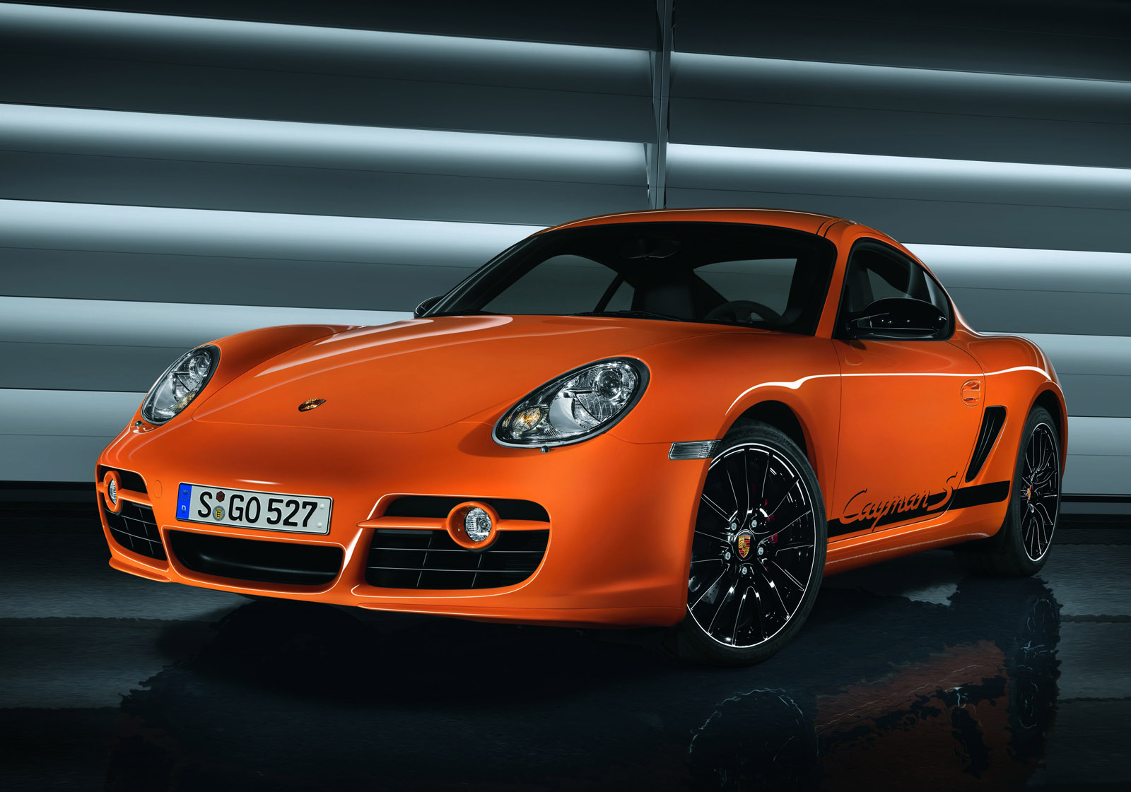 Porsche Cayman S orange Car Specifications Motorsports Wallpapers Download