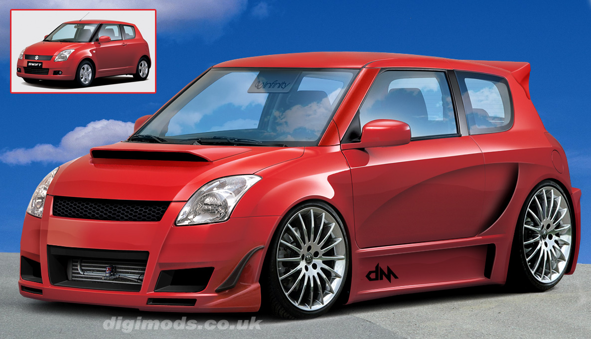 Red Suzuki Swift Modified HD Wallpapers High Resolution