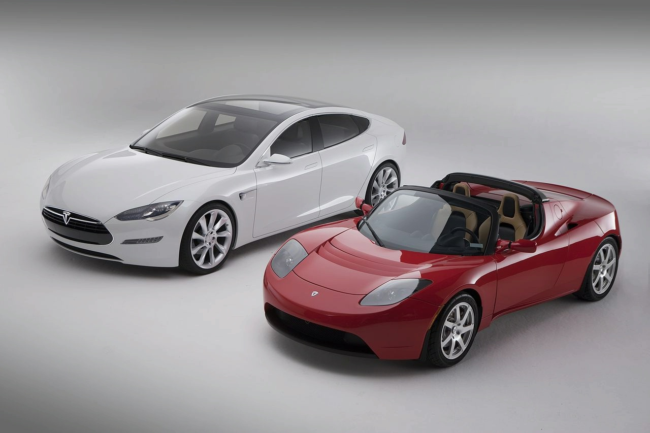 tesla model s with roadster Wallpapers Download