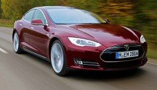 Tesla Model S red Present Desktop Backgrounds