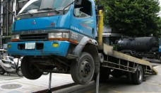 Mitsubishi Fuso FH truck in Taiwan free stock image