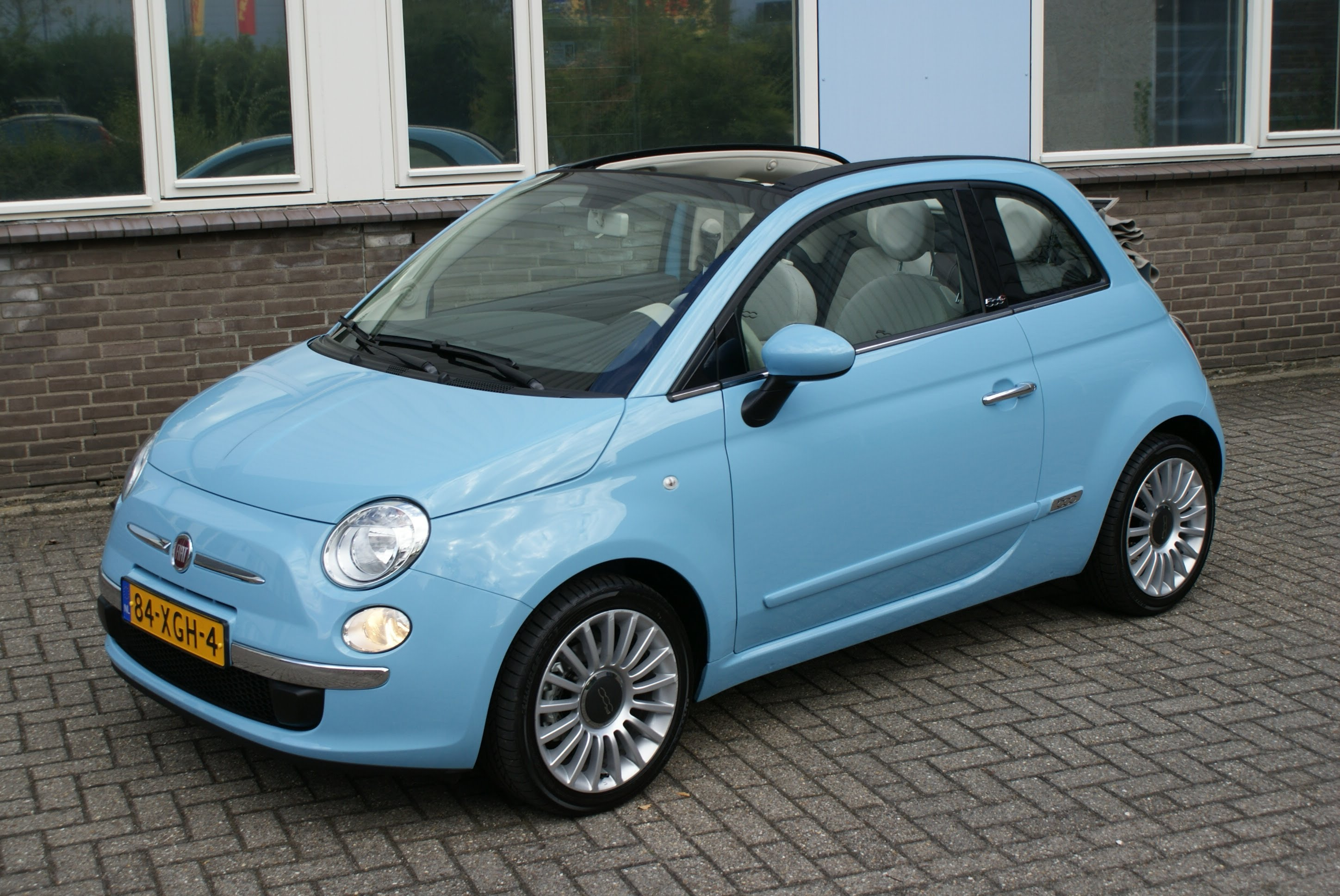 fiat 500 blue convertible for sale Picture free download image
